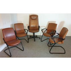 Ensemble de fauteuils cuir...