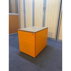 Caisson de bureau orange