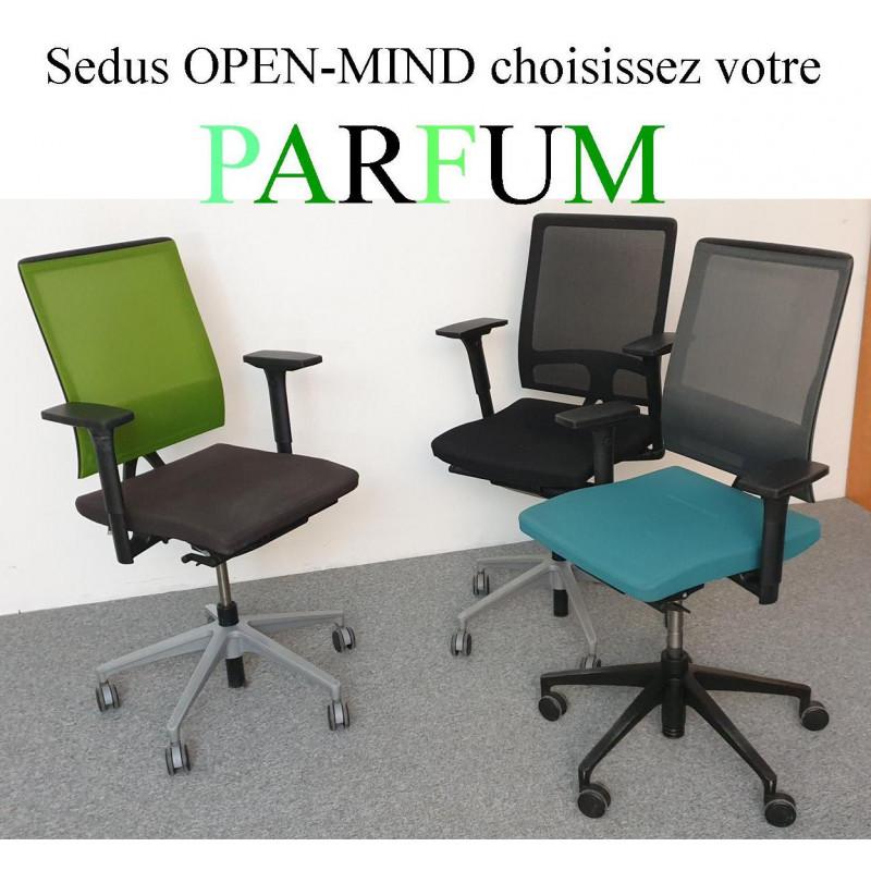 Panaché de fauteuil d'occasion de travail Sedus open Mind um100 noir Angerville 91670 île de France Essonne