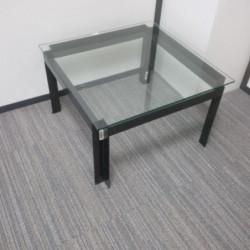 Table basse carrée métal et...