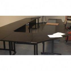 Table de réunion en bois noir