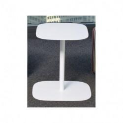 Table basse métal blanche